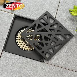 Thoát sàn chống mùi Black series Zento ZT573-1B (120x120mm)